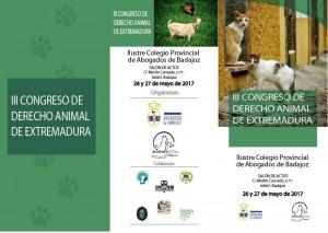 III CONGRESO DERECHO ANIMAL DE EXTREMADURA ADANA BADAJOZ